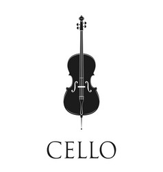 cello isolated on white background vector image vector image