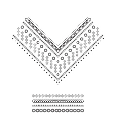 Ethnic pattern set vector image
