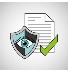 eye shield document security vector image