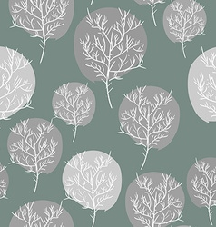 Gray abstract trees seamless background pattern vector image vector image