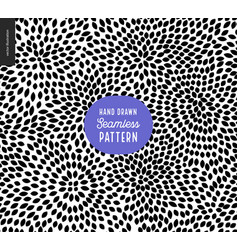 hand drawn black and white pattern vector image vector image