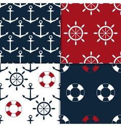 Nautical seamless set vector