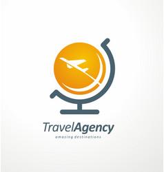 travel agency logo design idea vector image