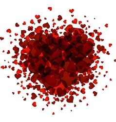 Valentine love card vector image