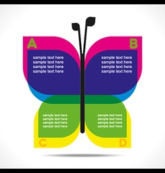 creative butterfly info-graphics design concept ve vector image vector image