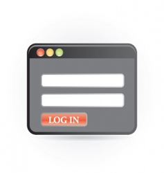 log in icon vector image vector image