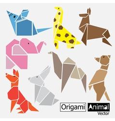 Origami animal design vector image