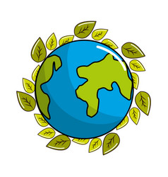 planet recycling icon stock vector image