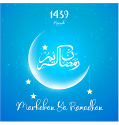 Ramadan kareem greetings card vector