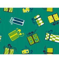 seamless gift box pattern vector image