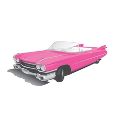 pink convertible vector image vector image