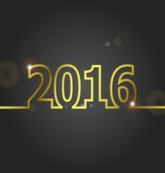 2016 Happy New Year on grey background vector