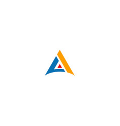 A initial triangle shape logo vector
