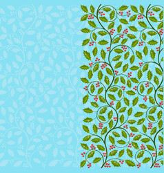 Abstract floral background with holly vector