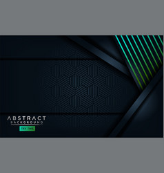 Abstract modern dark background with light green vector