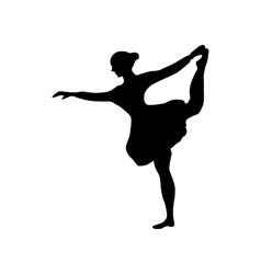 Ballerina silhouette black vector image