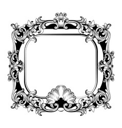 baroque mirror frame french luxury rich vector image