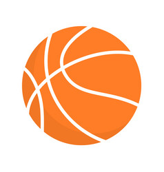 basketball ball orange icon clipart vector image