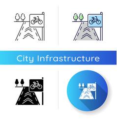 bicycle lane icon vector image
