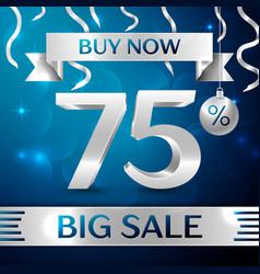 Big sale buy now seventy five percent for discount vector