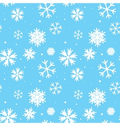 Blue seamless pattern with snowflakes vector