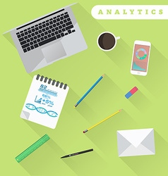 Business analytics and financial audit brainstorm vector