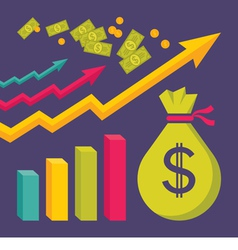 Business dollar trend graphics vector