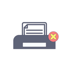 cancel document paper print printer printing vector image