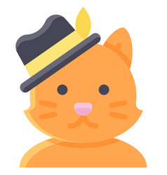 Cat man avatar halloween costume vector