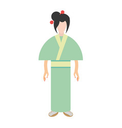character japanese woman attire costume vector image