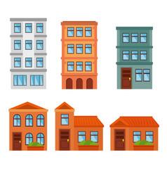 City landscape buildings icon vector