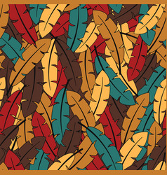 Colorful feathers autumn colors vector