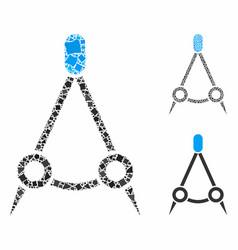Compasses composition icon tuberous elements vector