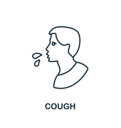 Cough icon simple from coronavirus collection vector