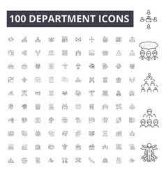 Department line icons signs set outline vector