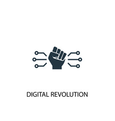 Digital revolution icon simple element vector