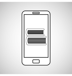 e-learning mobile device education vector image