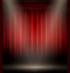empty stage on red black background show vector image