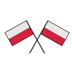 flag of poland stylization of national banner vector image