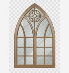 Gothic window wood vector