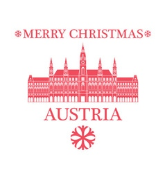 Greeting Card Austria vector