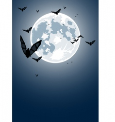 Halloween night with moon vector image