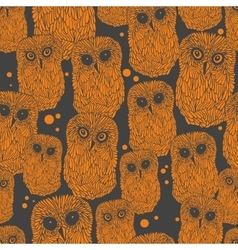 Halloween owl pattern vector