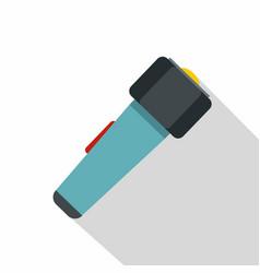 Hand flashlight icon flat style vector