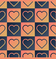 heart seamless pattern with creative shape vector image
