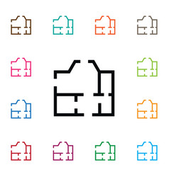 Isolated paper icon project element can be vector