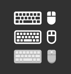 Keyboard and mouse icons vector