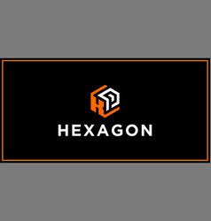 Kp hexagon logo design inspiration vector