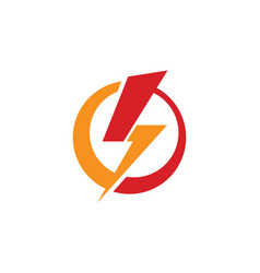 Light bolt electric logo vector