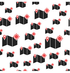location pin gps seamless pattern business vector image